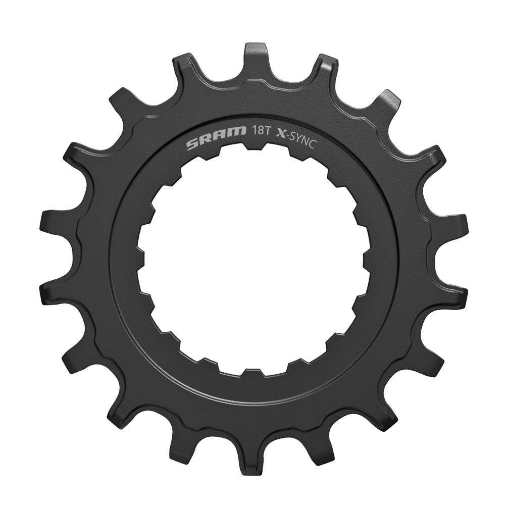 18T Black SRAM X-Sync Bosch E-Mountainbike Chainrings